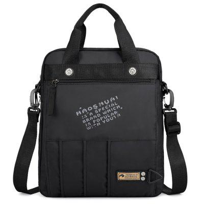 Men Solid Color portabil crossbody Bag Servieta Umăr Pack rezistent la apă nylon