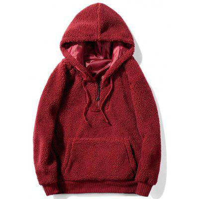Men's Warm Solid Color Cashmere Hoodie Sweatshirt
