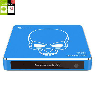 Beelink GT-King Pro Android 9.0 CoreELEC Linux Dual Operating System HiFi Lossless Sound 4K TV Box - Crystal Blue 4GB DDR4+64GB EMMC EU Plug