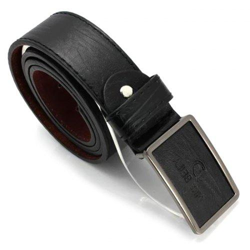 XSQR Men Genuine Leather Belt Middle Aged Metal Buckle Business Leisure Pure Cowhide Belt