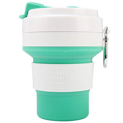 Food Grade Silicone Folding 350ml Water Bottle Travel Outdoor Sports Convenient Retractable Kettle