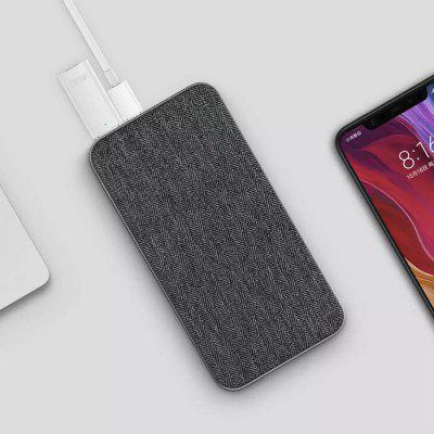 ZMI Fabric 18W Two-way Fast Charge Portable Power Bank 10000mAh 2-port Output USB Battery Charger High-end Version ( Xiaomi Ecosystem Product )