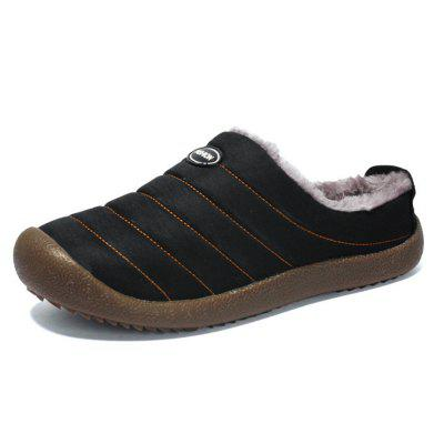 AILADUN Mannen Winter Plus Velvet Warm katoen pantoffels Indoor Outdoor Non-slip Slipper