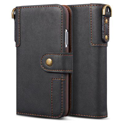 NP-11 Cowhide Texture Horizontal Flip Leather Cover with Holder Card Slots Wallet Lanyard Phone Case for iPhone 11