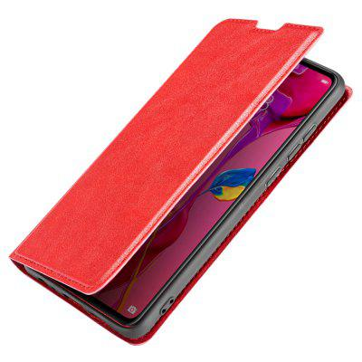 Retro Simple Ultra-thin Magnetic Leather Cover with Holder & Card Slots & Lanyard Phone Case for HUAWEI P30