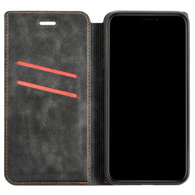 Retro Simple Ultra-thin Magnetic Leather Cover with Holder & Card Slots & Lanyard Phone Case for Xiaomi Redmi Note 6