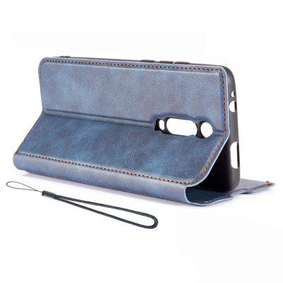 Retro Simple Ultra-thin Magnetic Leather Cover with Holder & Card Slots & Lanyard Phone Case for Xiaomi Redmi K20