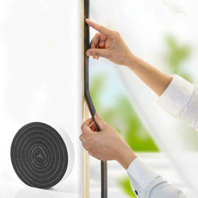 Cuttable 1.1m Multifunction Sealing Stripe Soundproof Windproof Dustproof Sponge Sticker 4pcs