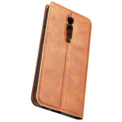 Retro Simple Ultradunne Magnetische Leather Cover met houder & Card Slots & Lanyard Phone Case voor Xiaomi redmi K20 Pro
