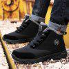 AILADUN Men's Winter High-top Snow Boots Outdoor Leisure Cotton Shoes Big Yards - BLACK