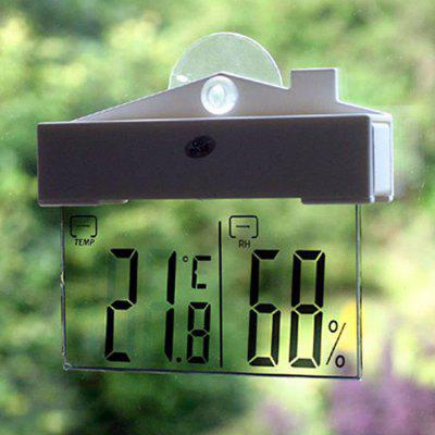 Thermometer Hydrometer Indoor Outdoor Weather Station LCD Digital Temperature Humidity Meter Suction Cup