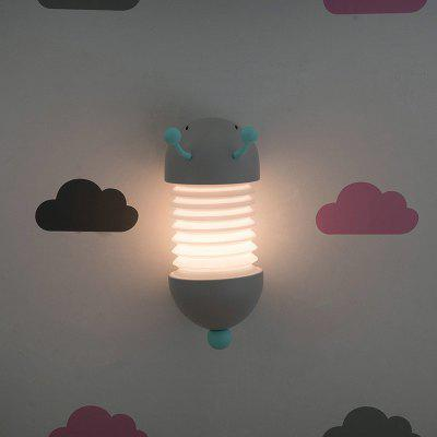 Caterpillar Retractable Night Light Creative Sleep Bedside Lamp USB Charging Silicone Cute Animal Shape for Children Room
