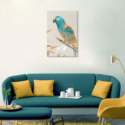 Șapte Wall Arte EZ166-un papagal pe bratul Art Pictura Home Decor Imprimare cu cadru de pin