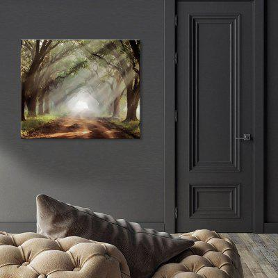 Seven Wall Arts 7JCLA004 Quiet Woods Landscape Painting Home Decor Printing with Pine Frame