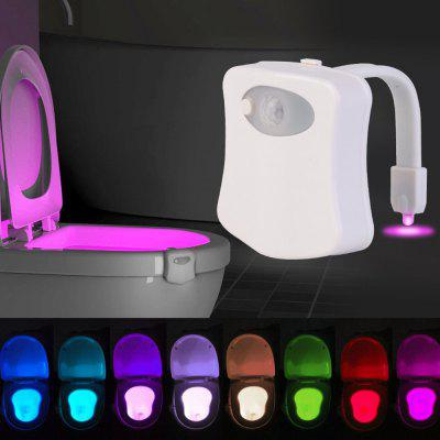 8 Colors Smart Motion Sensor Closestool Toilet Seat LED Night Light WC Bathroom Backlight Lamp