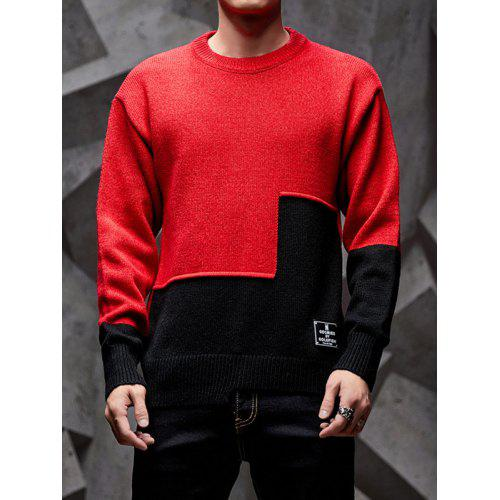 Generic Mens Casual Knit Pullover Crew-Neck Long Sleeve Letter Print Sweaters