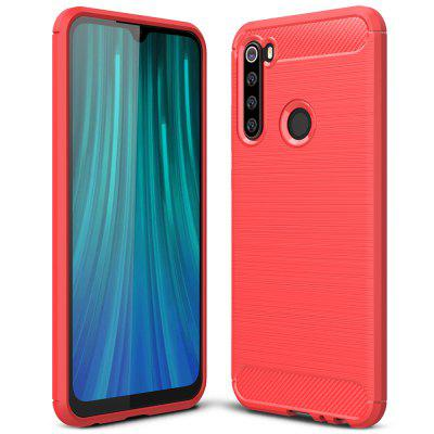 ASLING Carbon Fiber Series TPU Soft Shell Full Protective Back Cover Phone Case for Xiaomi Redmi Note 8
