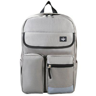 Trendy Backpack with Reflective Stripe Design Water-resistant Oxford Cloth Material