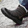 AILADUN Men's Winter Snow Boots Large Size Casual Plus Velvet - BLACK