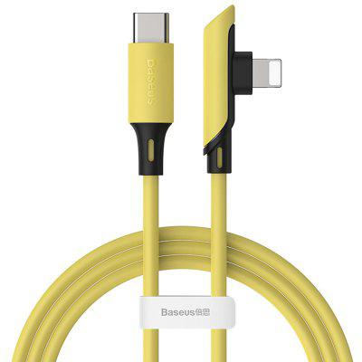 Baseus Elbow Type-C to 8 Pin 18W Fast Charge 480Mbps Data Transmission Line Charging Cable 1.2m