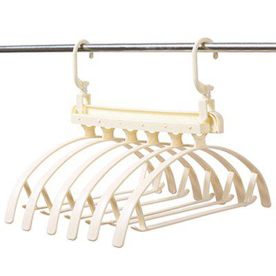 2 Crochets Horizontalement / Verticalement Support de Rangement à Double Usage Pliable 6 Cintres