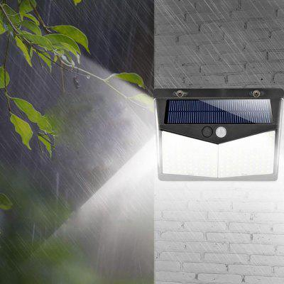 Outdoor Human Motion Sensing Lamp 208pcs LEDs IP65 Water-resistant Solar-powered Wall Light