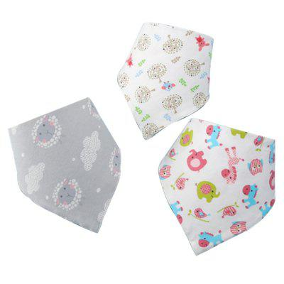 Baby Triangle Towel Napkins 3pcs