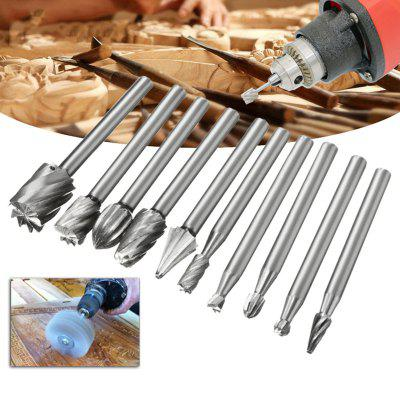 Woodworking Milling Cutter Engraving High Speed Steel Rotary File 10pcs