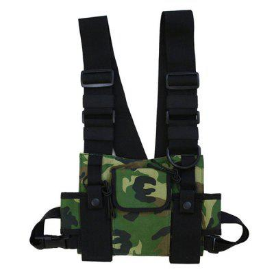 Mannen Hip-hop Tactical Borst Bag Multifunctionele Vest-stijl Pack Tide Rugzak