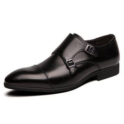Large Size Men's Business Dress Shoes British Style Monk Shoe