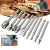 Woodworking Milling Cutter Engraving High Speed Steel Rotary File 10pcs - SILVER