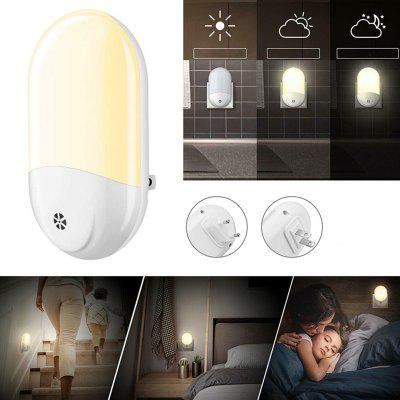 Light Sensing Plug Smart Bedside Night Light 2835 SMD LED Beads Ambient Lamp voor slaapkamer badkamer gang