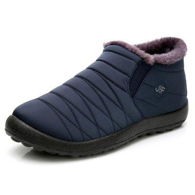 Men's Winter Warm Snow Boots Plus Velvet Thick High-top Outdoor Padded Shoes Water-resistant Non-slip