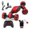 2.4G Stunt Gesture Induction Watch Remote Control Twisting Toy Car - RED