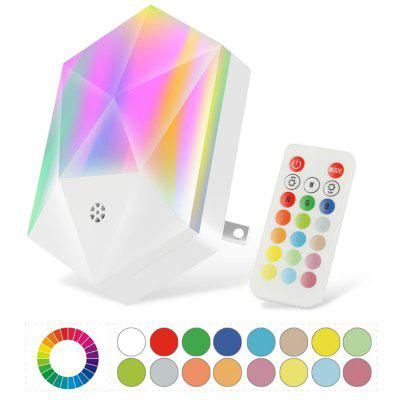 RGB Remote Control Night Light 16 Colors Colorful Atmosphere Intelligent Dimmable Baby Room Lamp