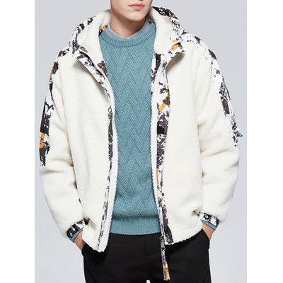 Men's Cashmere Warm Hooded Cotton Jacket