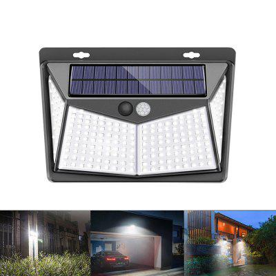 208 LED Outdoor Human Motion Sensing Lamp Max 1400lm solárních Wall Light 3 režimy