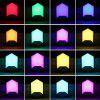 RGB Remote Control Night Light 16 kleuren kleurrijk Sfeer Intelligent dimbaar Babykamer Lamp - WIT
