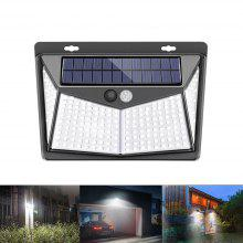 208 LED Outdoor Human Motion Sensing Lamp Max 1400lm Solar-powered Wall Light 3 Modes