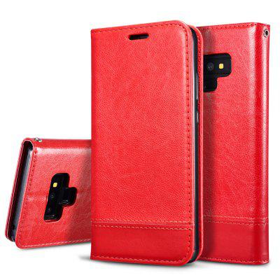 Retro 3-in-1 Ultra-thin Flip Phone Case PU Leather Protective Cover with Lanyard for Samsung Galaxy Note 9