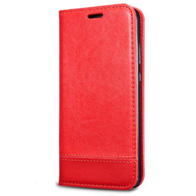 Double-sided Full Protective Splicing Horizontal Flip Leather Cover Phone Case with Holder Card Slots Lanyard for HUAWEI P30 Lite