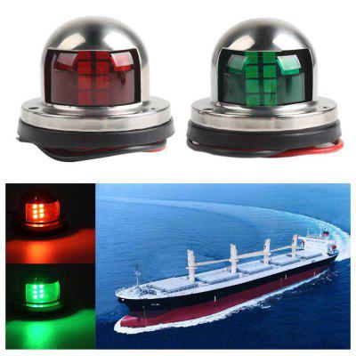 Stainless Steel Marine 12V LED Red Green Signal Light Boat Taillight 2pcs