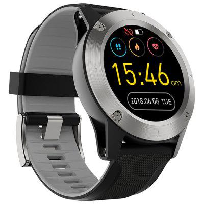 R911 Smart Outdoor Sports Watch 1,3 inch scherm Health Care Fitness Tracker Bluetooth Smartwatch met lederen en siliconen dubbele bandjes