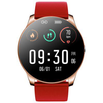 R33 Smart Sports Watch Color Screen Health Care Fitness Tracker IP67 Waterproof Bluetooth Smartwatch with Silicone Strap and Leather Belt