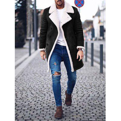 Herren Winter Warmer Retro Mantel Warme Lange Zweireihe Jacke