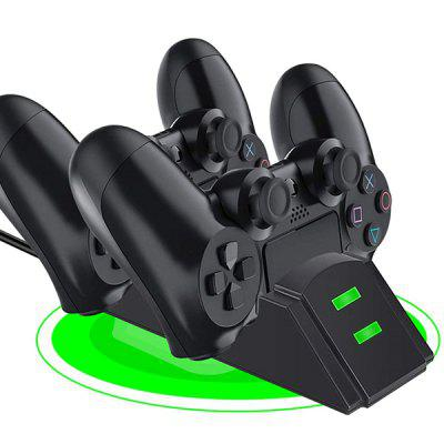 Dual Wireless Controllers Charger Charging Dock Station met Micro USB-adapter voor PS4 Gamepad
