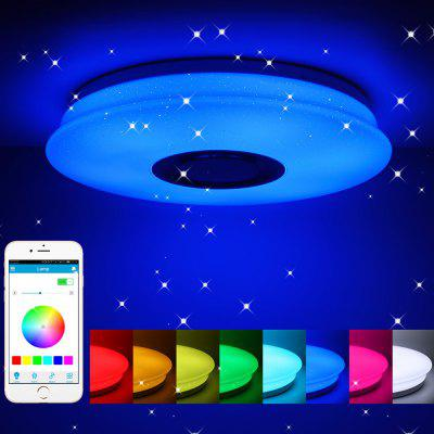 Gearbest 60W Remote Control Bluetooth Music APP Colorful LED Ceiling Light RGB Flush Mount Round Starlight Lamp with Speaker