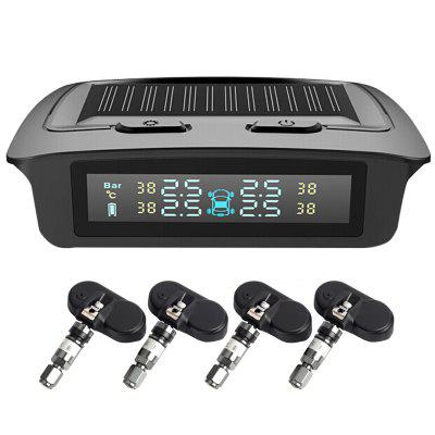 TY01 Tire Pressure Detector Monitoring Built-in Wireless Transmission Solar Power with Large Display Screen