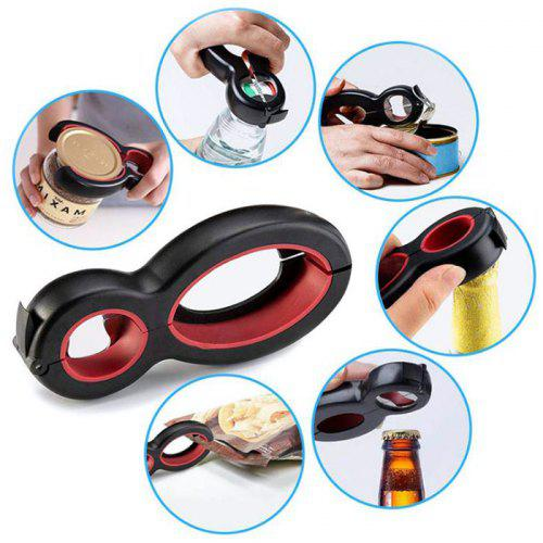 Multi-functional PP + Stainless Steel Bottle Opener Save Labour Opening Can / Toring Cover Paper Tool