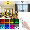 60W Remote Control Bluetooth Music APP Colorful LED Ceiling Light RGB Flush Mount Round Starlight Lamp with Speaker - WHITE